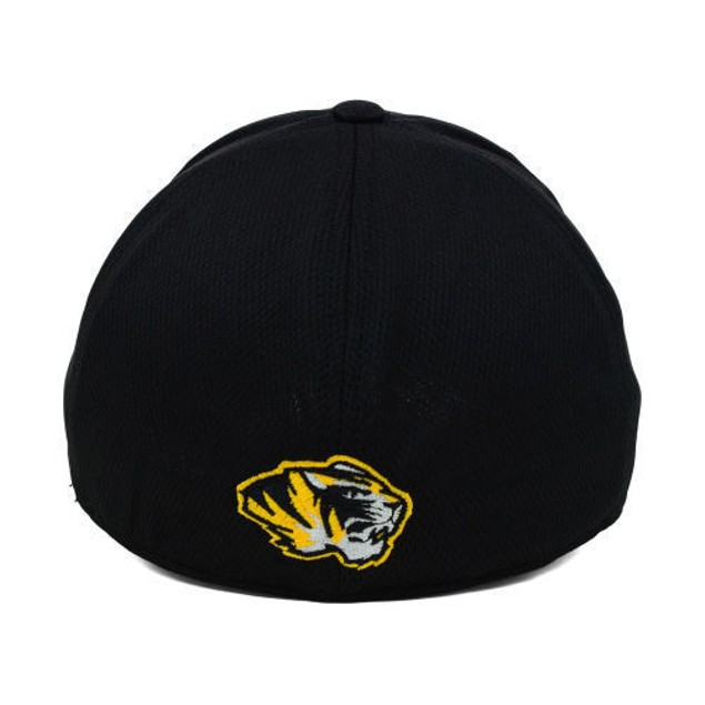 """Missouri Tigers NCAA TOW Black """"Booster"""" Memory Fitted Hat"""