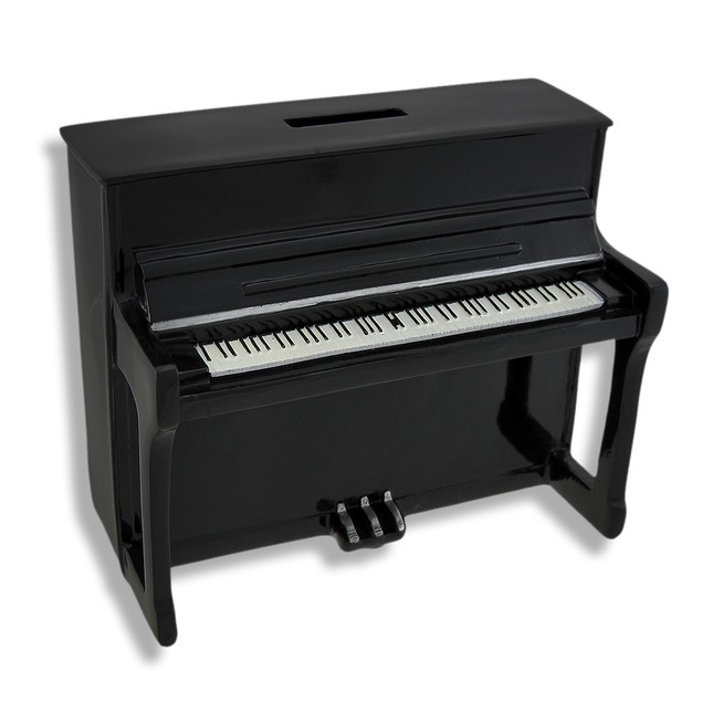 Black Upright Piano Coin Bank Toy Banks