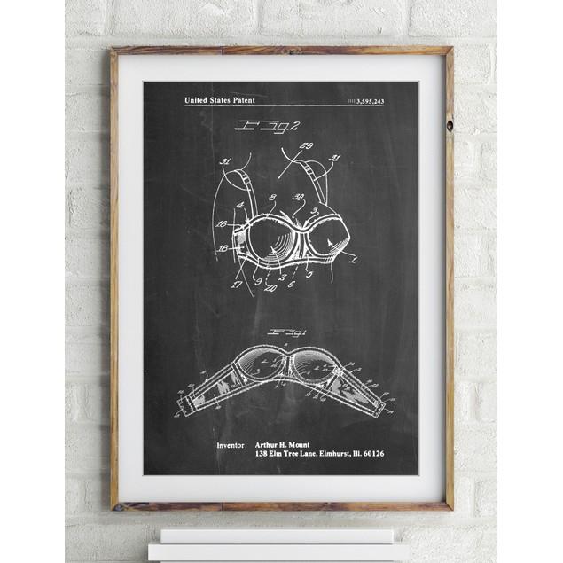 Push-up Bra Patent Poster
