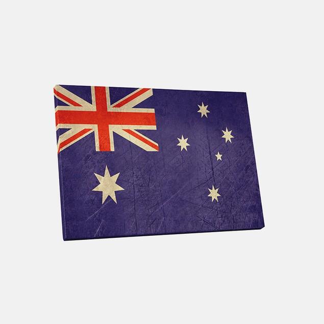 Vintage Australia Flag Canvas Print