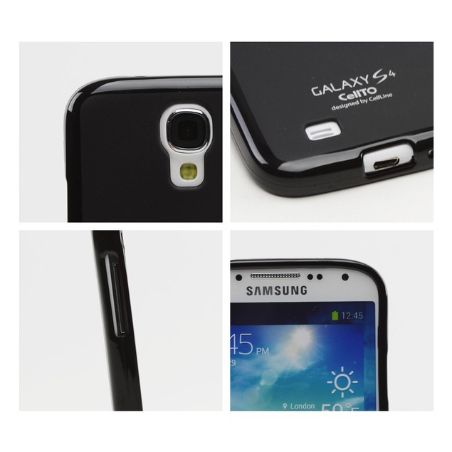Black CellTo Matte Crystal Silicone Skin Case for Samsung Galaxy S4