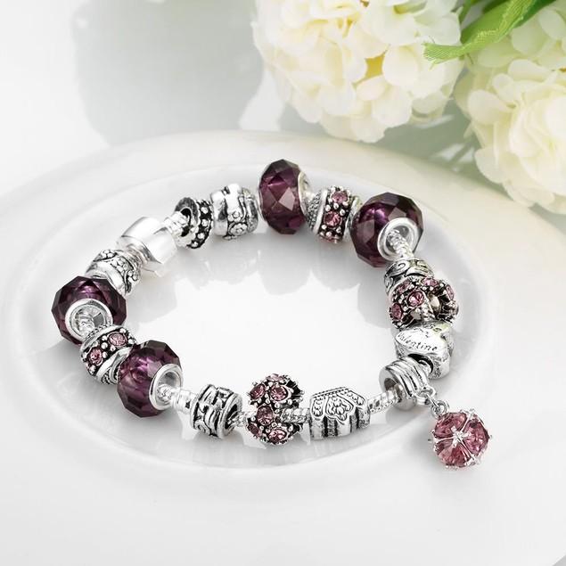 50 Shades of Ruby Red Designer Inspired Bracelet