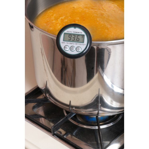 Digital Meat Cooking Thermometer w/ Pot Clip