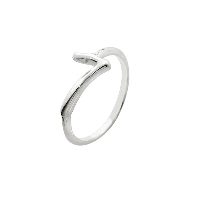 Sterling Silver Lucky Number Ring - Seven