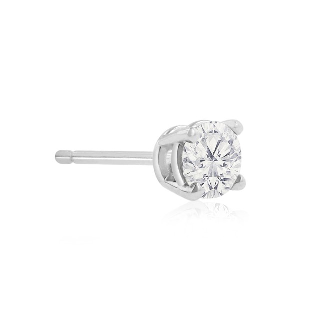 10k White Gold 1/2 Carat Genuine Diamond Stud Earrings