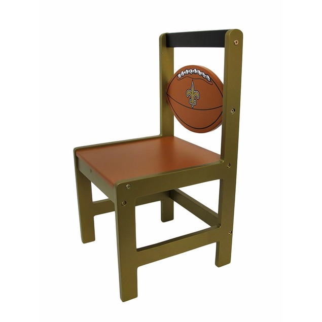 New Orleans Saints Wooden Nfl Team Kids Chair Childrens Chairs