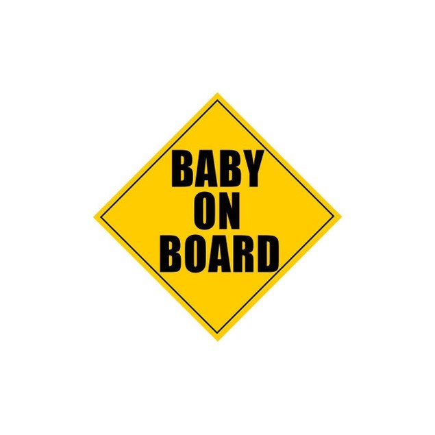 Zone Tech Baby on Board Safety Safe Caution Bumper Car Vehicle Magnet 5x5""