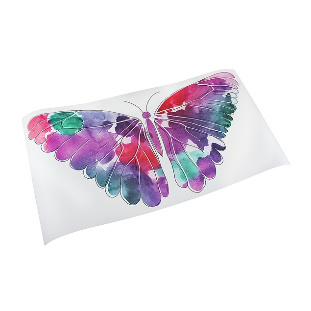 Watercolor Butterfly Die Cut Peel & Stick Vinyl Wall Decor Stickers