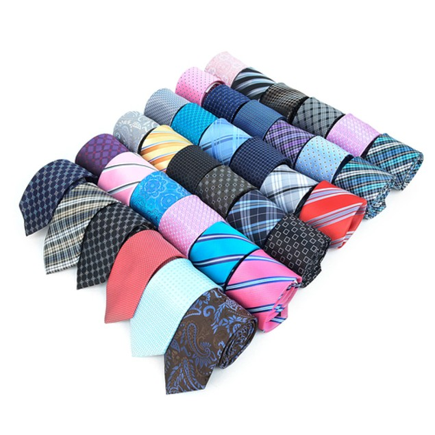 10-Pack Mystery Deal: Assorted Printed Woven Ties (Slim or Regular)