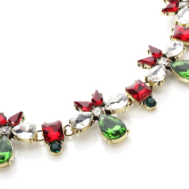 Chic Bow Holiday Statement Necklace