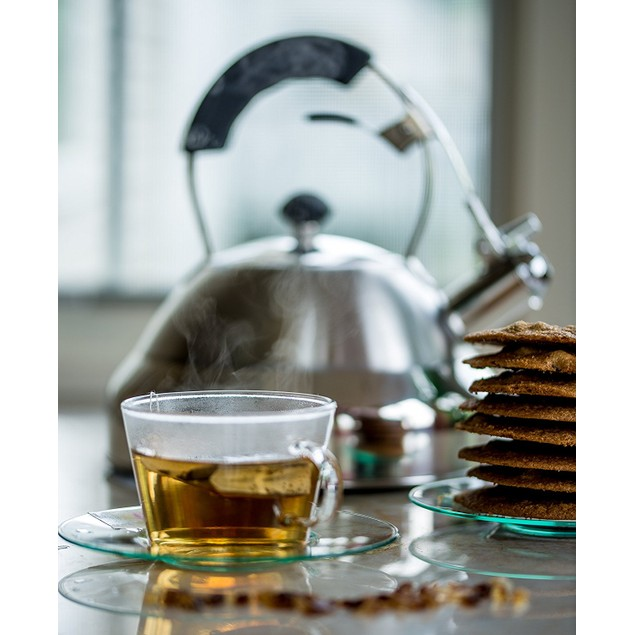 Bellemain Sturdy Surgical Stainless Steel Whistling Tea Kettle for Stovetop