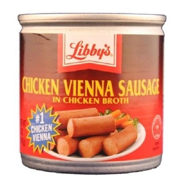 LIBBY'S CHICKEN VIENNA SAUSAGE 4.6 OZ CAN