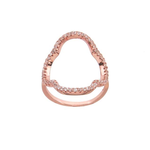 Cubic Zirconia Quatrefoil Fashion Ring - 3 Colors