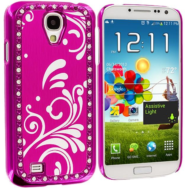 Samsung Galaxy S4 Diamond Luxury Flower Case Cover