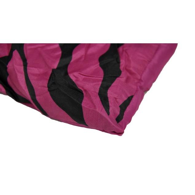 Hot Pink And Black Zebra Stripe Twin Size Throw Blankets