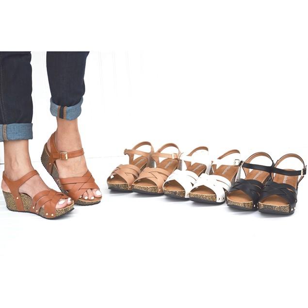 Mata Double Strap Cork Platform Wedge Sandal - 3 Colors!