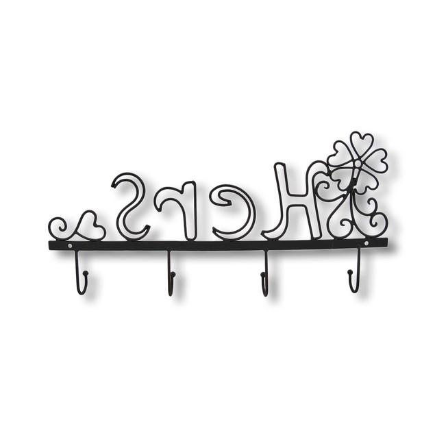 Metal `Hers` Wall Hook Decorative Wall Hooks