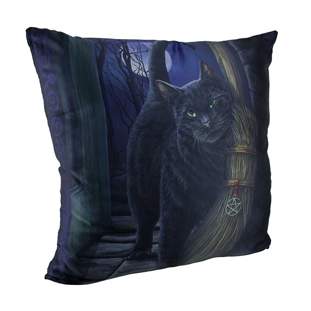 Lisa Parker's A Brush With Magick Black Cat And Throw Pillows