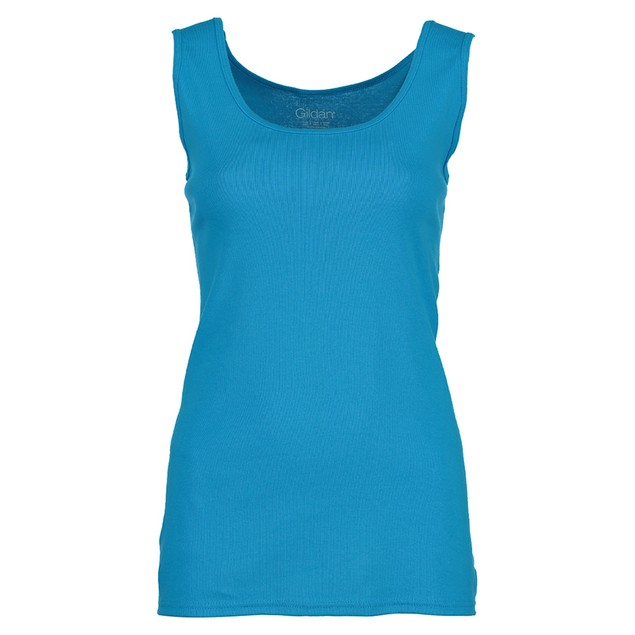 6-Pack: Gildan Women's Ribbed 100% Cotton Tank Top