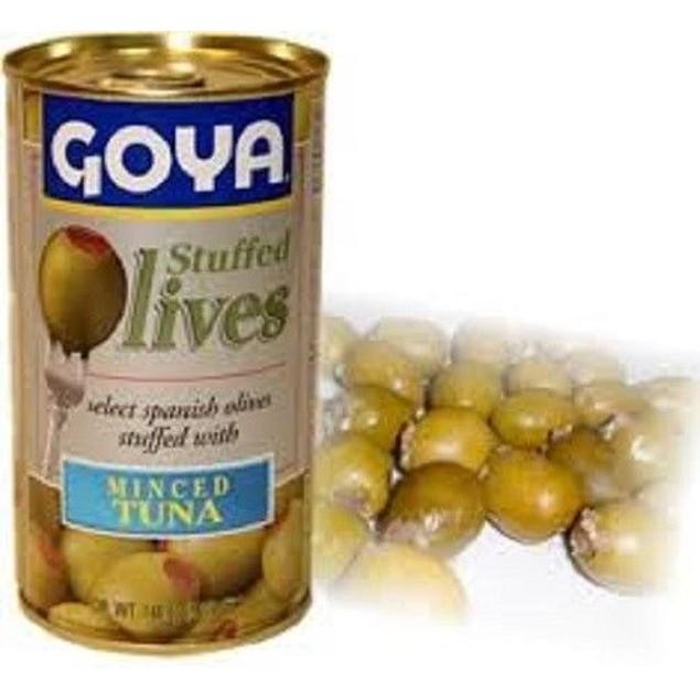 Goya Stuffed Minced Tuna Olives 5oz Can