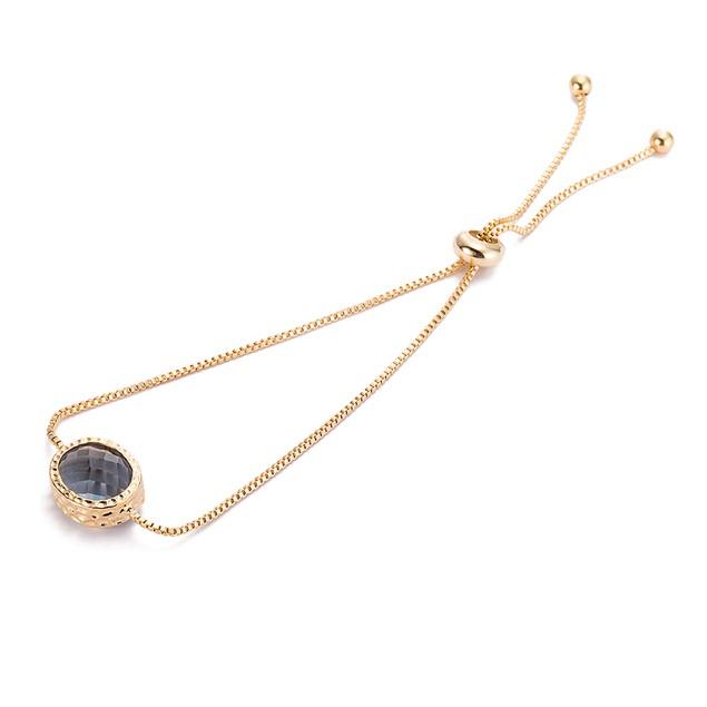 Gold Plated Onyx Gem Bracelet
