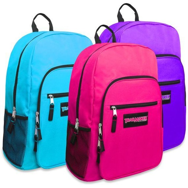 "Trailmaker Girls Backpack Deluxe 19"" Large Variety Of Colors New With Tags"