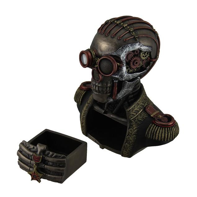Steampunk Skeleton In Band Uniform Trinket Box Decorative Boxes