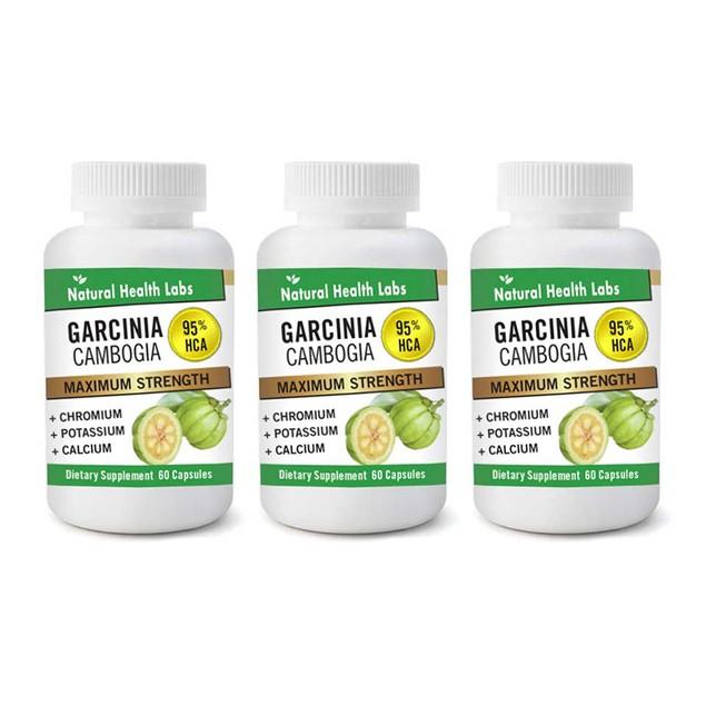 3-Pack Pure Garcinia Cambogia Extract Maximum 95% HCA (180 Count Total)