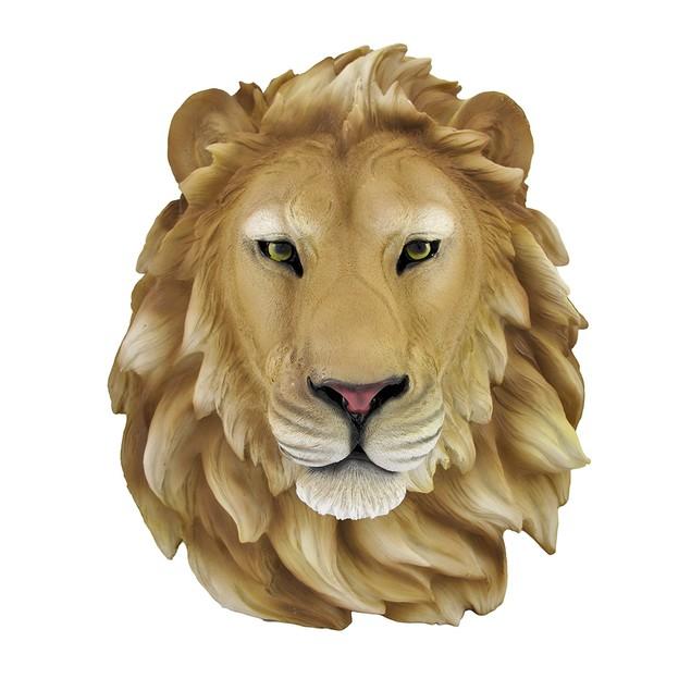 African Lion Head Mount Wall Statue Bust Leo Wall Sculptures