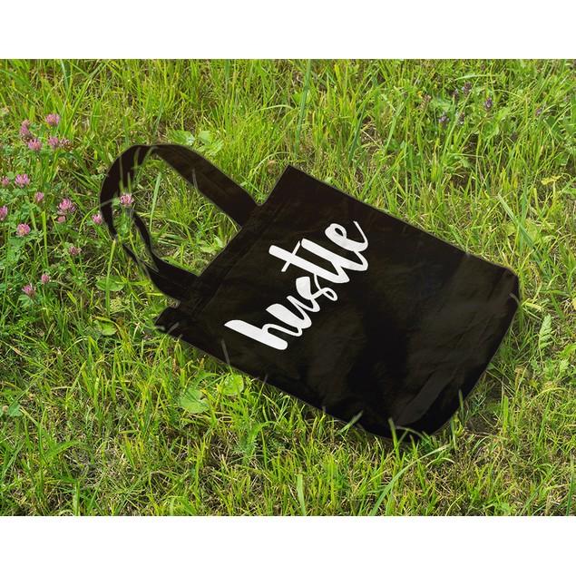 Hustle Black Tote Bag