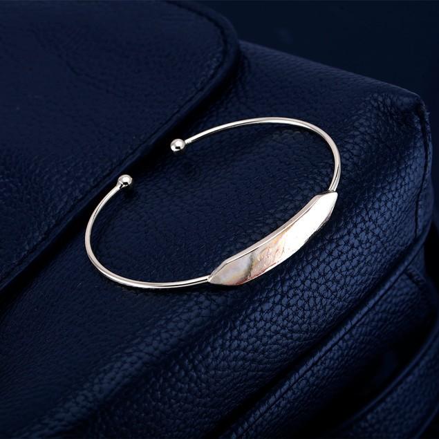 Personalized Bar Bangle Bracelet - 2 Colors