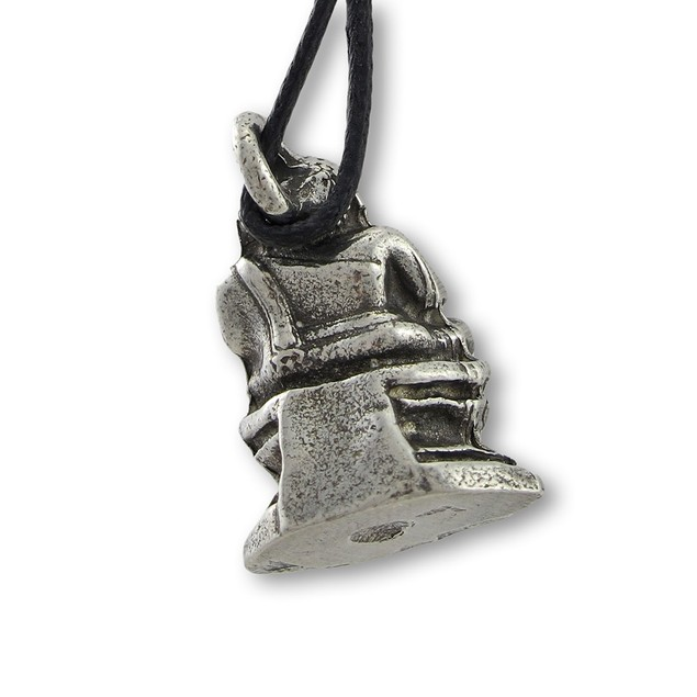 Lead-Free Pewter Laughing Buddha 3-D Pendant Mens Pendant Necklaces