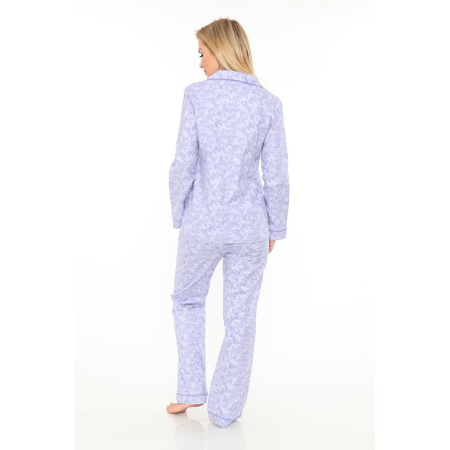 White Mark 100% Cotton Flannel Pajama Set