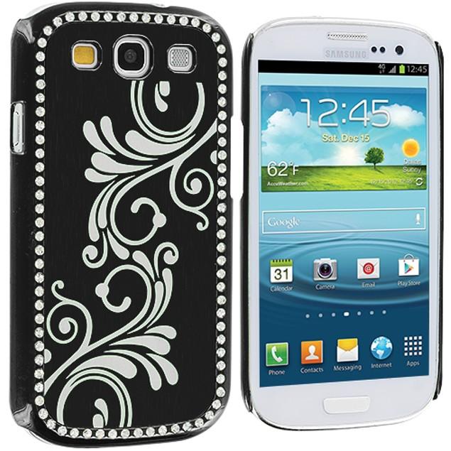 Samsung Galaxy S3 9300 Diamond Luxury Flower Case Cover