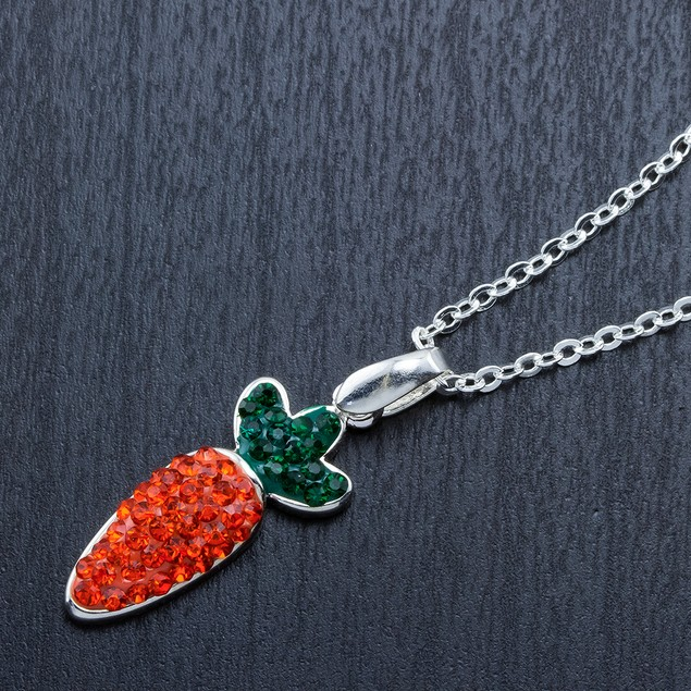 Crystal Novelty Fashion Necklace - Carrot