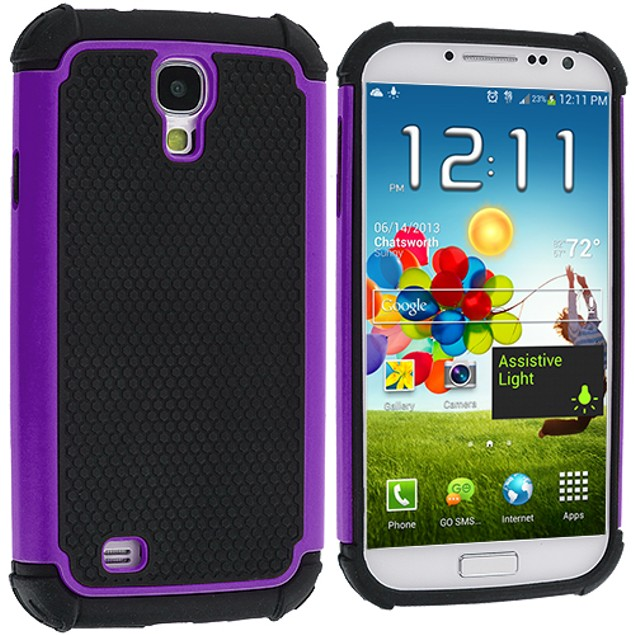 Samsung Galaxy S4 Hybrid Rugged Armor Protector Hard Case Cover