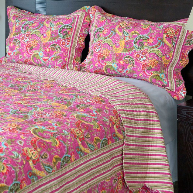 Lavish Home 3 Piece Paisley Quilt Set