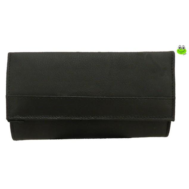 Afonie Super Soft Leather 7-Inch Framed Clutch Wallet