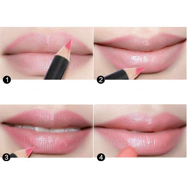 12 Colors 15CM Women's Professional Waterproof Lip Liner Pencil