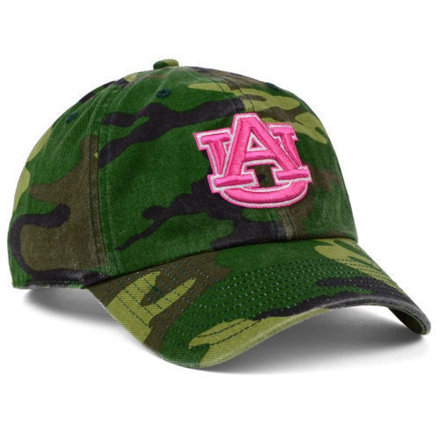 "Auburn Tigers NCAA 47' Brand ""Fashion"" Clean Up Adjustable Hat"