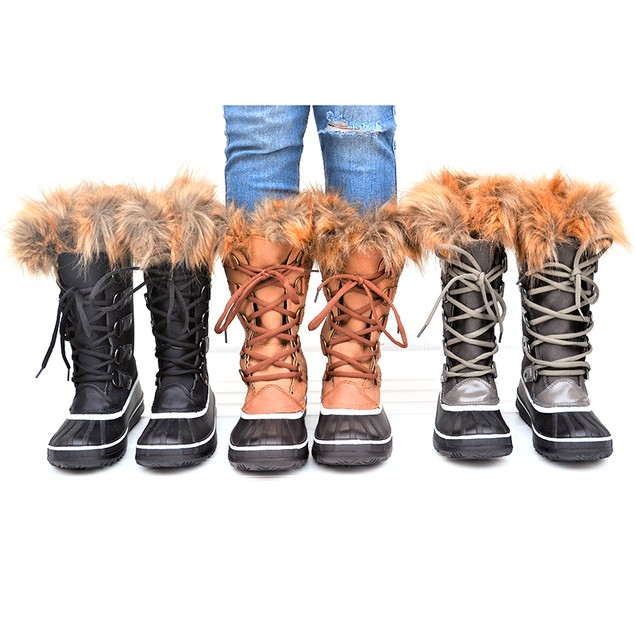 Mata Women's Fur Insulated Cold Weather Boots