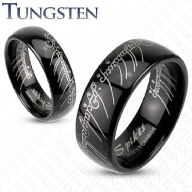 Smooth Fit Men Tungsten Comfort Fit Ring