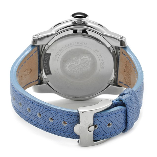 Glam Rock - Women's SoBe Mood White Dial Blue Genuine Leather