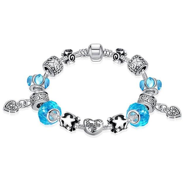 Aquamarine Crystal Smile Designer Inspired Bracelet