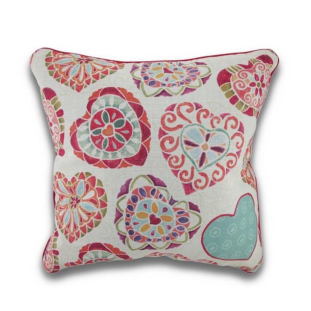 Love Birds By Daphne Brisonnett Reversible Throw Pillows