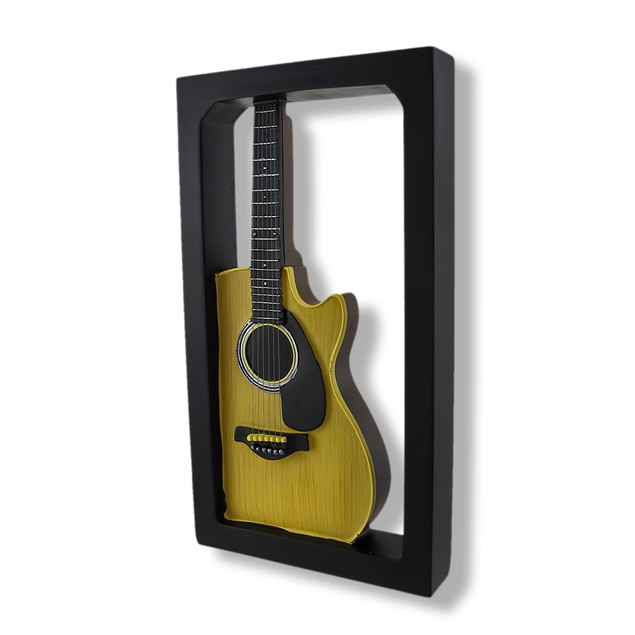 Classic Acoustic Guitar Shadow Box Wall Plaque Shadow Boxes