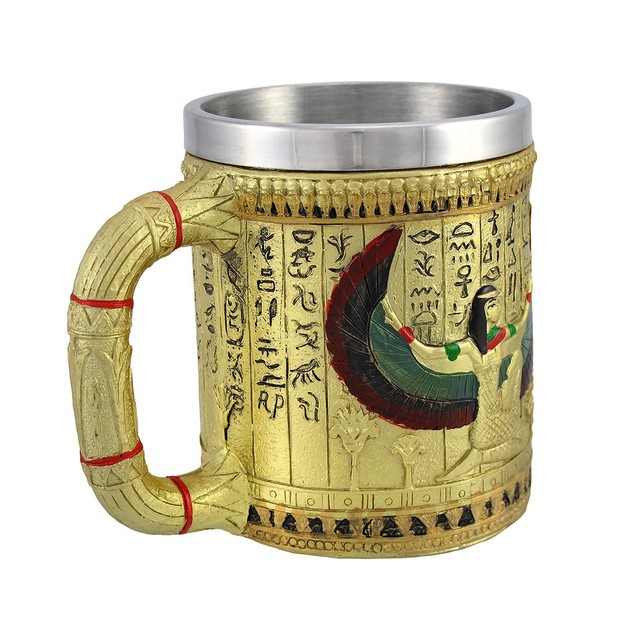 Egyptian Winged Isis Golden Coffee Mug 12 Oz. Coffee Cups