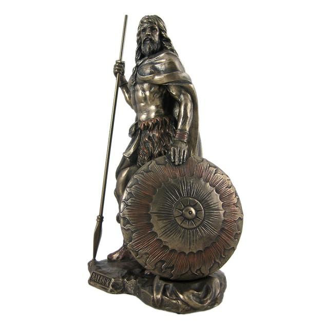 Norse God Baldr Bronzed Finish Statue Baldur Brave Statues