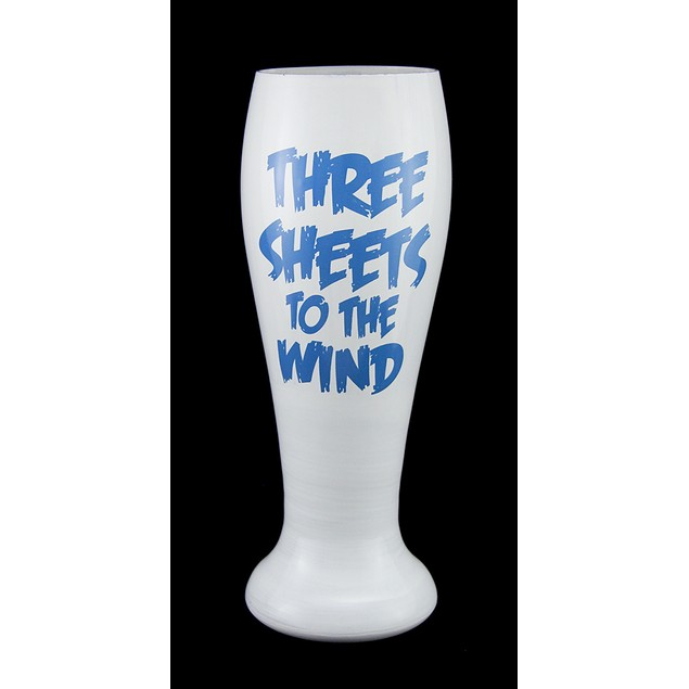 Three Sheets Hand Painted Ghost Pilsner Glass Pilsner Glasses