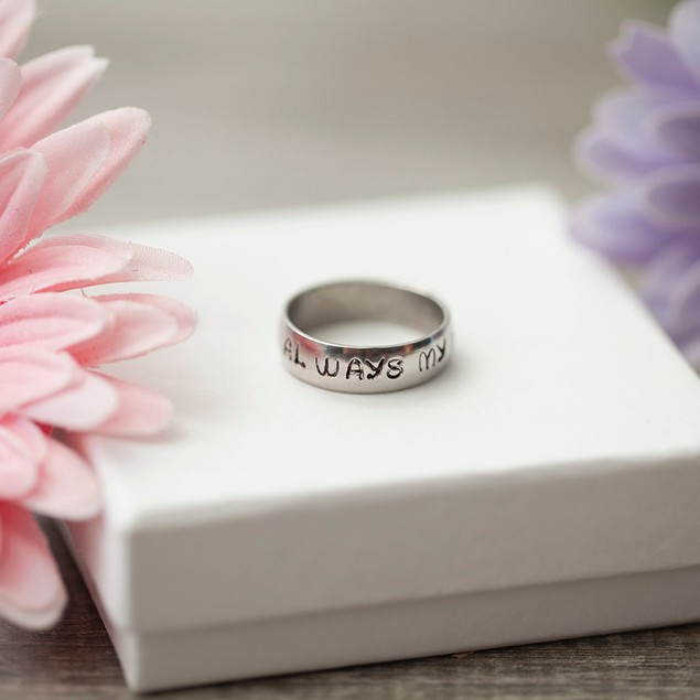 Personalized Stamped Band Rings - 3 Styles
